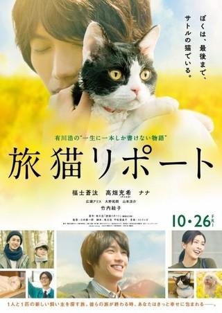 「旅猫リポート」、福士蒼汰が猫をギュッと抱きしめる愛らしい本予告&ポスター公開