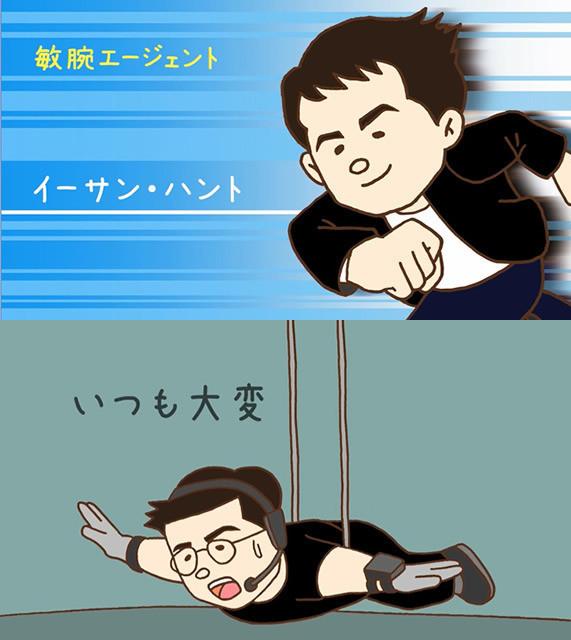 ゆるかわアニメでイーサン・ハントの活躍を紹介!