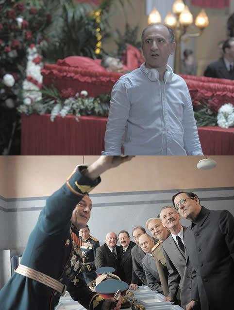 メガホンをとったアーマンド・イアヌッチ (上)と劇中のワンシーン(下)