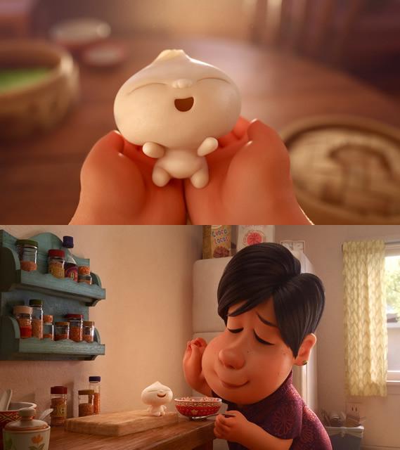 可愛い中華まんの赤ちゃんと人間の 「親子の絆」が描かれる
