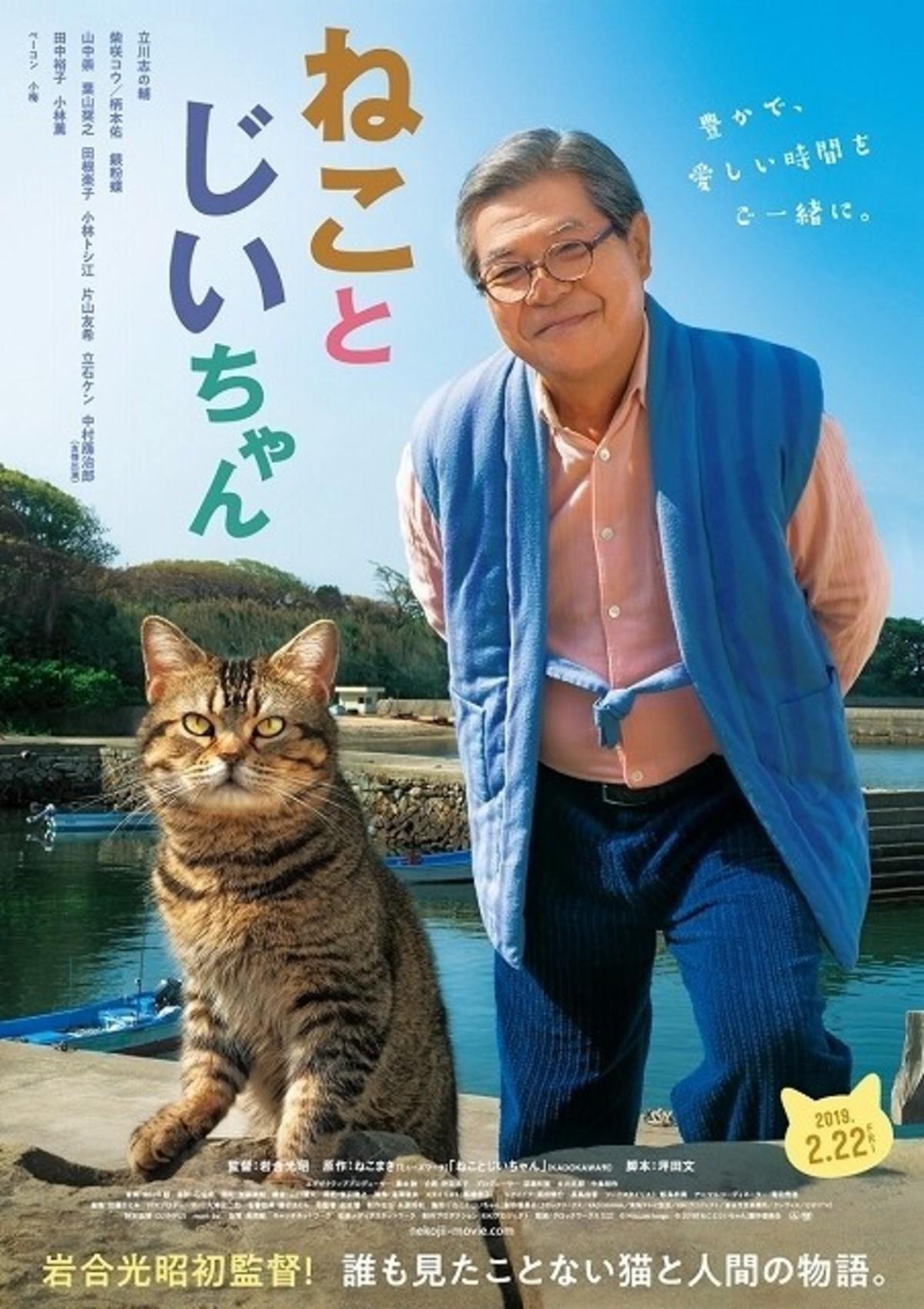 """立川志の輔×柴咲コウ「ねことじいちゃん」ビジュアル披露!公開日は""""猫 ..."""