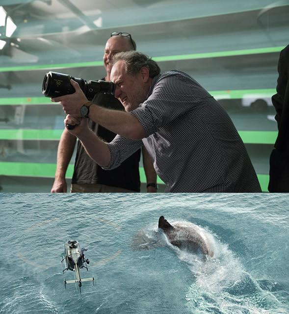 「ナショナル・トレジャー」シリーズの 実力派監督が、超巨大ザメの恐怖を描く!