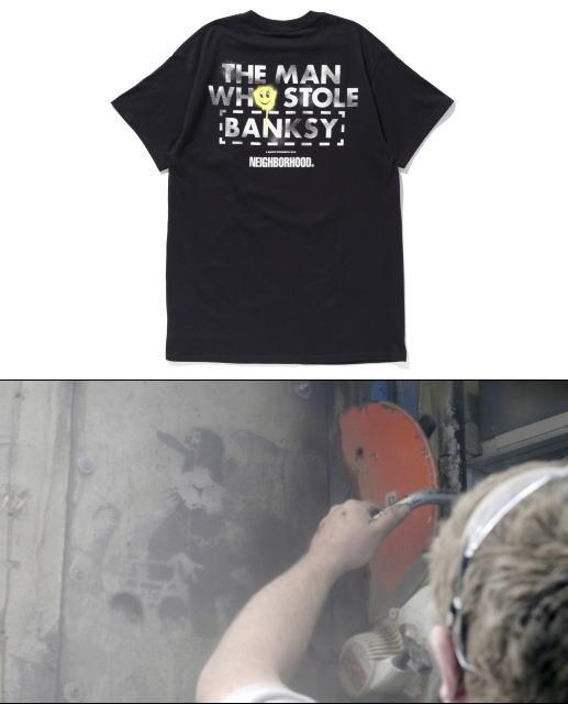 「バンクシーを盗んだ男」、人気ブランド「NEIGHBORHOOD」とのコラボTシャツ発売