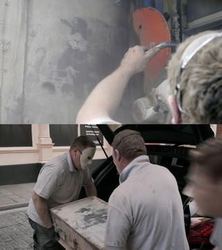 """カメラは暗躍する""""美術ハンター""""の姿をとらえた!「バンクシーを盗んだ男」本編映像"""