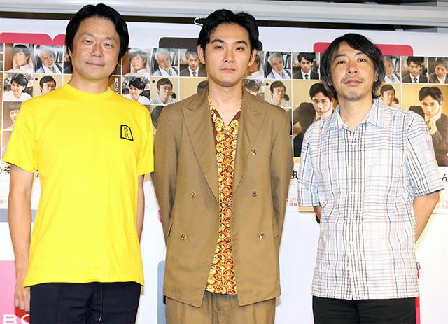トークショーに出席した松田龍平と 瀬川晶司五段、豊田利晃監督