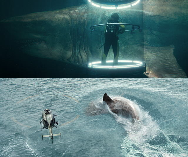 超巨大ザメに出会ったFUJIWARAは……「MEG」上映会の潜入映像公開!