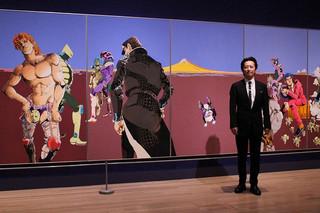 国立新美術館での展示の見どころを語った荒木飛呂彦氏
