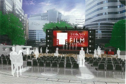 日比谷ステップ広場に屋外シアターを設置!