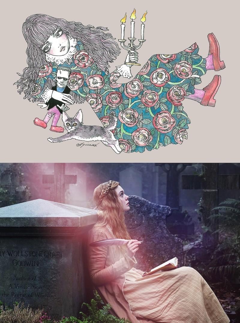 宇野亞喜良×エル・ファニング「メアリーの総て」コラボ鑑賞券発売 ノートの特典も