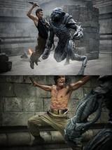 「スカイライン」エイリアンVS格闘術シラットの裏側はこうなっていた! メイキング映像公開