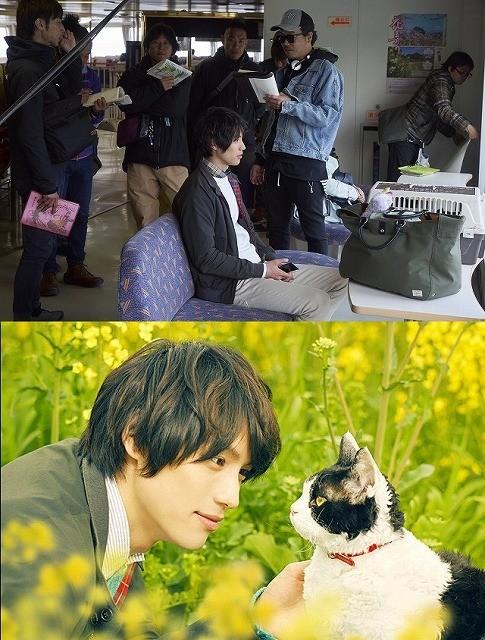 """「旅猫リポート」メイキング映像公開!福士蒼汰が猫と""""会話"""""""