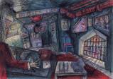 『東京流れ者』より「ジャズ喫茶マンホールの支配人室」(1972年頃)