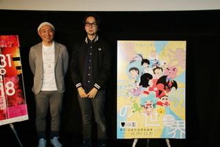 湯浅政明監督(左)と牛尾憲輔「デビルマン」