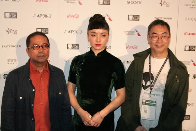 脚本のラム・キートー、女優のクロエ・ マーヤン、フルーツ・チャン監督
