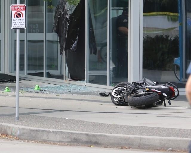 「デッドプール2」での事故現場の様子