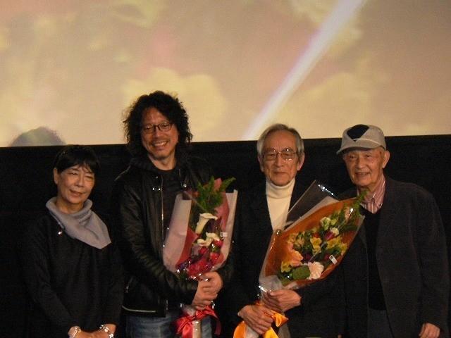 桜井浩子、浦沢直樹氏、飯島敏宏監督、 西條康彦(左から)
