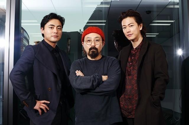 「ハード・コア」について語り合った (左から)山田孝之、山下敦弘監督、佐藤健
