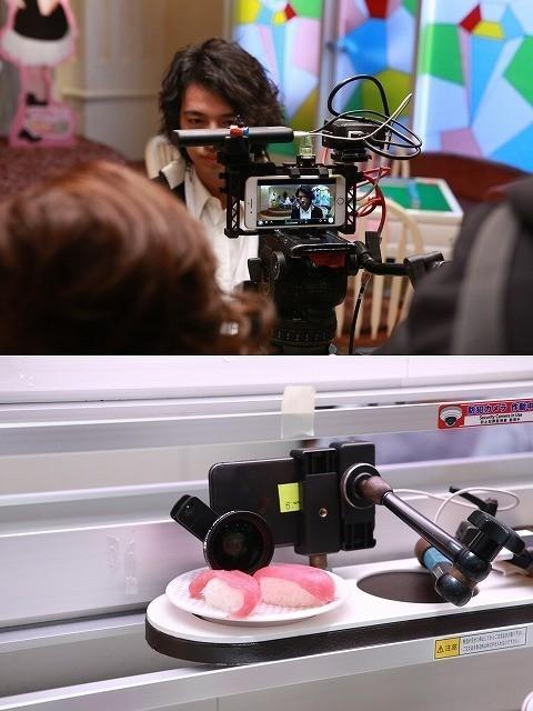 回転寿司の皿の上にiPhone!