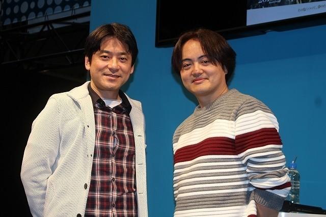 原作・原泰久氏(左)と松橋真三プロデューサー