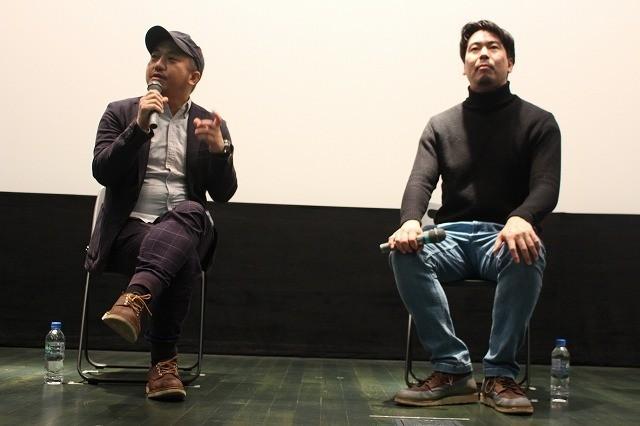 片山慎三監督(右)と白石和彌監督