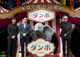 ティム・バートン監督&コリン・ファレル、日本のファンに「ダンボ」をお披露目