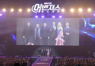 大熱狂の韓国ファンに感激のキャスト陣「アベンジャーズ エンドゲーム」
