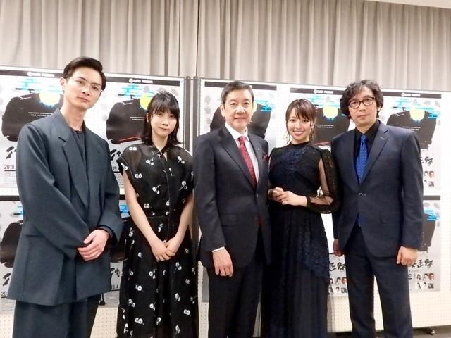 オープニングに出席した(左から) 高良健吾、松本穂香、奥田瑛二、水崎綾女、 行定勲監督