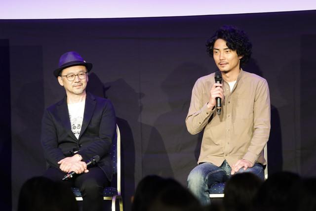 水谷豊の監督第2作に出演した毎熊克哉(右)と撮影監督の会田正裕