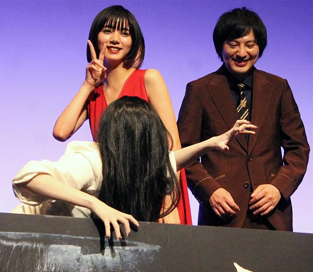 池田エライザ、サプライズの貞子降臨にも堂々「ただ怖いだけではない」