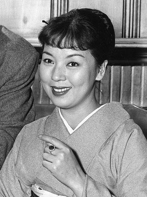 1961年の記者会見で撮影された様子