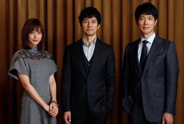 インタビューに応じた西島秀俊、 佐々木蔵之介、本田翼