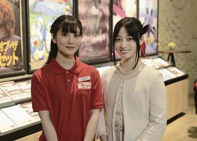 声優の古賀葵(左)と橋本環奈