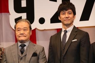 西島秀俊が「任侠学園」で反省 西田敏行アドリブに「吹いちゃいました」