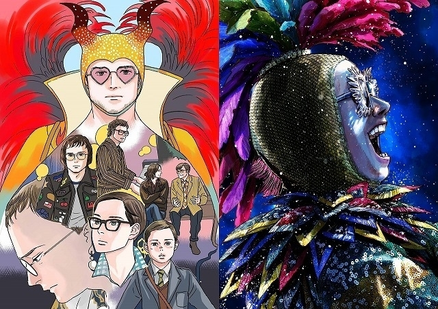 (左から)小玉ユキ氏、浅野いにお氏の 描き下ろしイラスト
