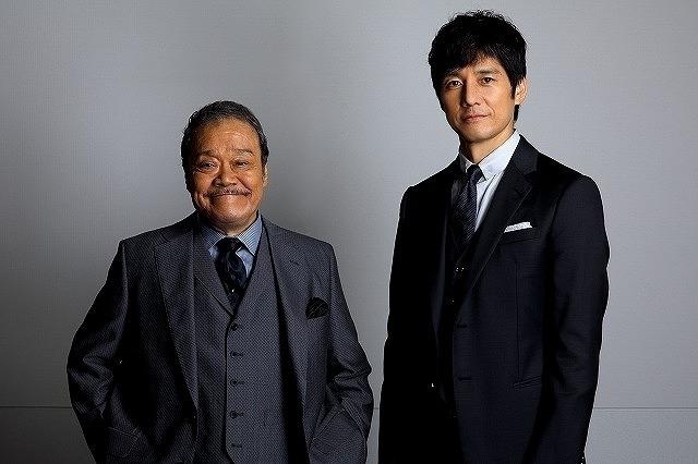 取材に応じた西島秀俊&西田敏行