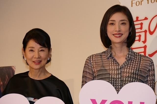 イベントに出席した吉永小百合と天海祐希