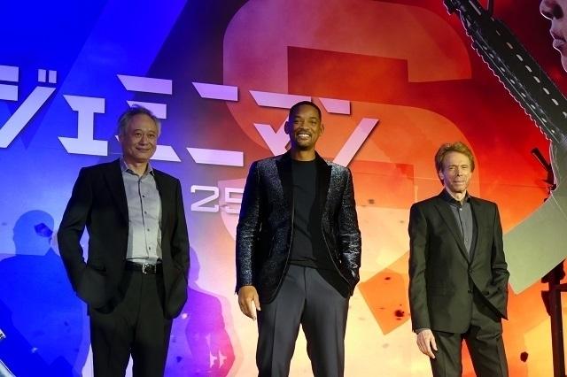 ウィル・スミス(中央)、アン・リー監督(左)、プロデューサーのジェリー・ブラッカイマー