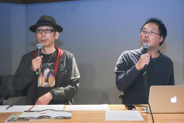 深田晃司監督(右)と土屋豊監督