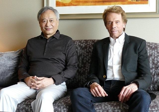 (左から)アン・リー監督、 ジェリー・ブラッカイマー