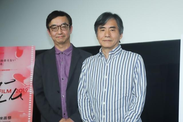 中島かずき(右)と氷川竜介氏