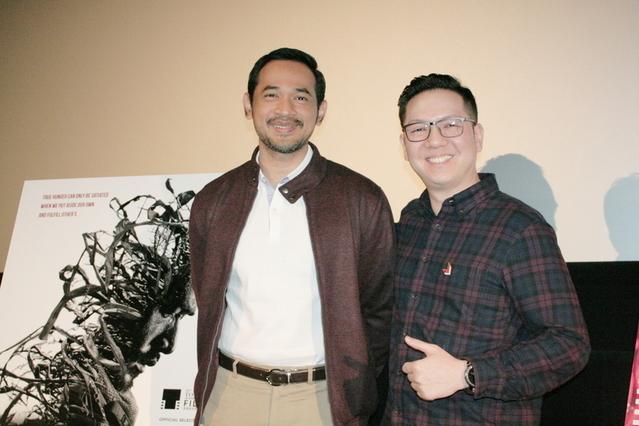 ランディ・コロンピス監督(右)と、 俳優のオカ・アンタラ