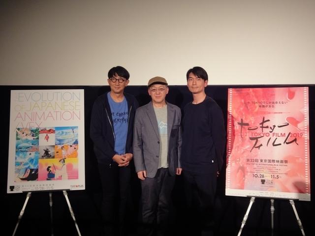 登壇した(左から)渡辺歩監督、 小西賢一氏、秋本賢一郎氏