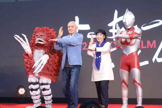 科学特捜隊隊員を演じた黒部進、桜井浩子が登場