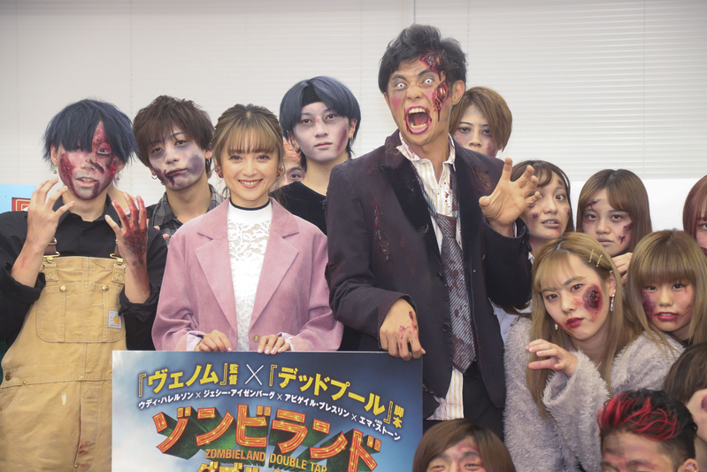 安達祐実、小島よしおのリアルゾンビメイクに「ちょっと怖いけど可愛い」