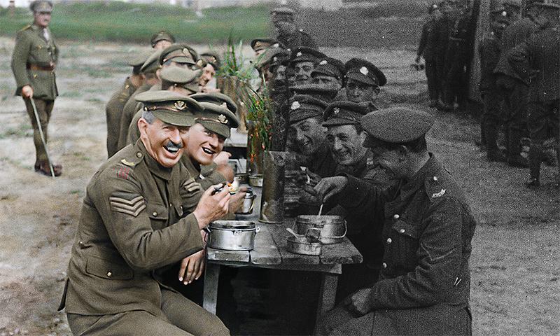 100年前のモノクロ映像を着色 ピーター・ジャクソンこだわりの修復技術「彼らは生きていた」場面写真