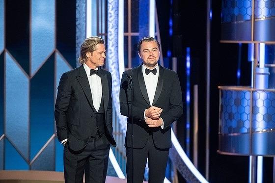 「ワンス・アポン・ア・タイム・イン・ハリウッド」で共演したレオナルド・ディカプリオとブラッド・ピット