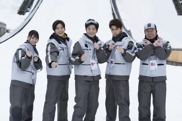 極寒の長野県白馬スキージャンプ競技場で撮影中!