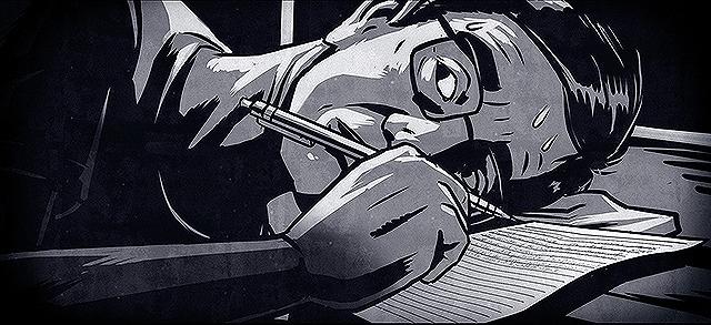 拷問や強制労働の実態を精密なアニメ画で描いている