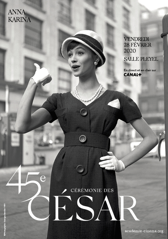 アンナ・カリーナさんの写真を使った今年のセザール賞のポスター