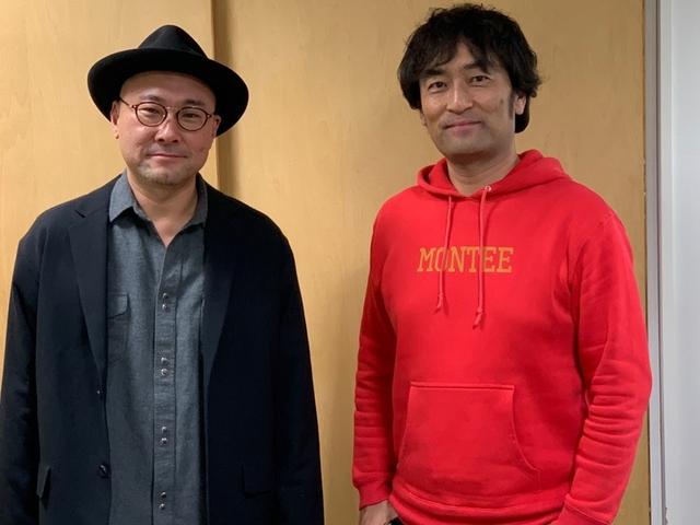 内田英治総監督(左)と森谷雄プロデューサー